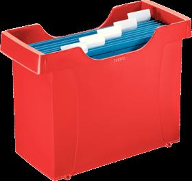 Pojemnik Leitz Plus, do 20 teczek zawieszanych, 352x270x165mm, czerwony