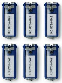 Zawieszki do kluczy Durable, 6 sztuk, granatowy