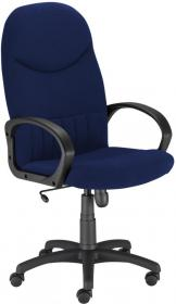 Fotel gabinetowy Nowy Styl Model 8000, welur, granatowy