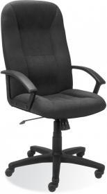Fotel biurowy - gabinetowy Nowy Styl Mefisto M-43, welur, czarny
