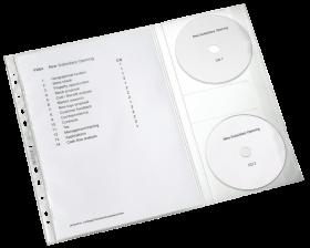 Koszulki groszkowe Leitz Combo, na dokumenty A4 i płyty CD, 130µm, 5 sztuk, transparentny