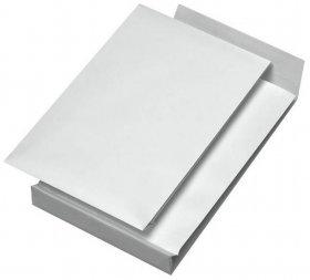 Koperta rozszerzana Rayan, B5 z paskiem HK, 10 sztuk, biały