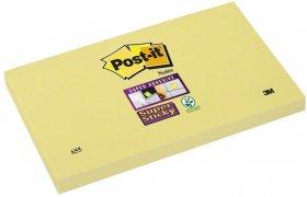 Notes samoprzylepny Post-it Super Sticky, 127x76mm, 90 karteczek, żółty