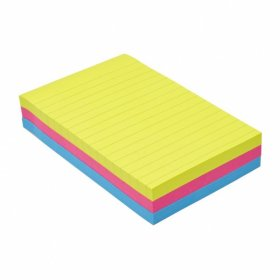 Karteczki samoprzylepne w linie Post-it Super Sticky, 102x152mm, 270 karteczek, mix kolorów neonowych