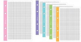 Wkład do segregatora w czarną kratkę Interdruk, A4, 50 kartek, kolorowy margines