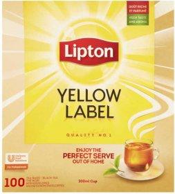 Herbata czarna w torebkach Lipton Yellow Label, 100 sztuk x 2g