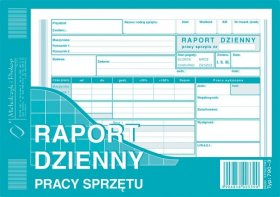 Druk akcydensowy Raport dzienny pracy sprzętu MiP, A5, offsetowy, 80k