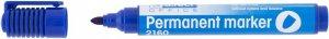 Marker permanentny D.Rect, 2160, okrągła, 1-3mm, niebieski