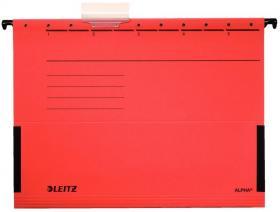 Teczka zawieszana kartonowa z rozciągliwymi bokami Leitz Alpha, A4, 348x260mm, 230g/m2, czerwony