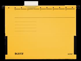Teczka zawieszana kartonowa z rozciągliwymi bokami Leitz Alpha, A4, 348x260mm, 230g/m2, żółty