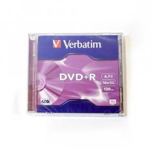 Płyta DVD+R jednokrotnego zapisu Verbatim 4,7GB jewel case 1 szt.