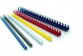 Grzbiety do bindowania Argo, plastik, 16mm, 100 sztuk, niebieski