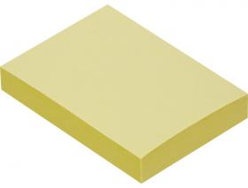 Notes samoprzylepny Tartan, 38x51mm, 100 karteczek,  żółty pastelowy