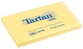 Notes samoprzylepny Tartan, 76x127mm, 100 karteczek, żółty