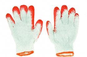 Rękawice bawełniano - gumowe Zosia Gosposia, uniwersalny, czerwono - biały