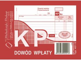 Druk akcydensowy KP Dowód wpłaty MiP, A6, wielokopia, 80k