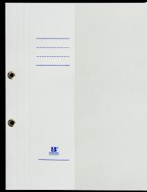 Skoroszyt kartonowy oczkowy Barbara, 1/2 A4, do 150 kartek, 280g/m2, biały