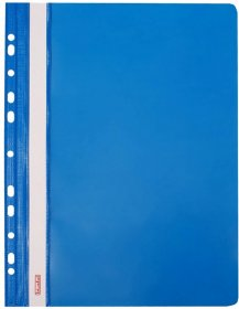 Skoroszyt z oczkami, twardy Biurfol, A4, plastikowy, niebieski