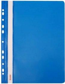 Skoroszyt plastikowy oczkowy Biurfol, twardy, A4, do 200 kartek, niebieski