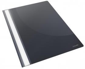 Skoroszyt plastikowy bez oczek Esselte Vivida, A4, do 160 kartek, czarny