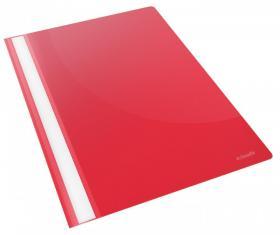 Skoroszyt plastikowy bez oczek Esselte Vivida, A4, do 160 kartek, czerwony