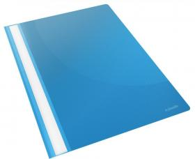 Skoroszyt plastikowy bez oczek Esselte Vivida, A4, do 160 kartek, niebieski