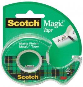 Taśma klejąca Scotch Magic 890, z podajnikiem, 19mm x 7.5m, przezroczysty matowy