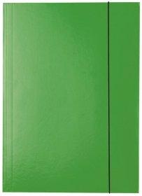 Teczka kartonowa z gumką lakierowana Esselte, A4, 400g/m2, 4mm, zielony