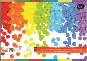Blok techniczny kolorowy Intedruk, A3, 10 kartek, mix wzorów