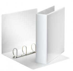 Segregator prezentacyjny Esselte Panorama, A4, szerokość grzbietu 77mm, do 480 kartek, 4 ringi, biały