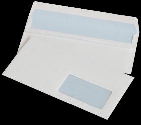 Koperta standardowa, NC, DL, samoklejąca SK, okno prawe, 1000 sztuk, biały