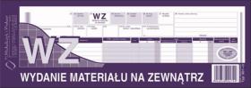 Druk akcydensowy WZ Wydanie materiału na zewnątrz MiP, 1/2 A4, wielokopia, 80k