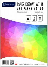 Papier kredowy Interdruk, A4, 115g/m2, 100 arkuszy, matowy