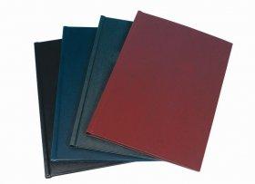 Okładki do oprawy kanałowej czarne rozmiar C (126-150 kartek), 10 sztuk, czarny