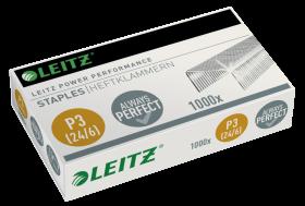 Zszywki wytrzymałe Leitz Power Performance, 24/6, 1000 sztuk, srebrny