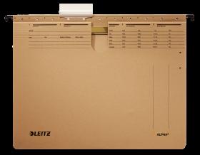 Skoroszyt zawieszany Leitz Alpha, A4, 348x270mm, 225g/m2, brązowy