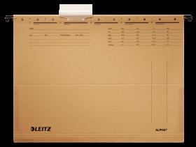 Teczka zawieszana kartonowa z rozciągliwymi bokami Leitz Alpha, A4, 348x260mm, 250g/m2, brązowy