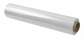 Folia zabezpieczająca stretch, 0.5x118m, 1.25kg, 23µm, przezroczysty