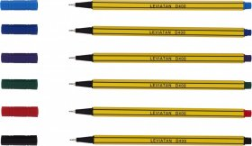 Cienkopis Leviatan, D400, 0.4mm, 6 sztuk, mix kolorów
