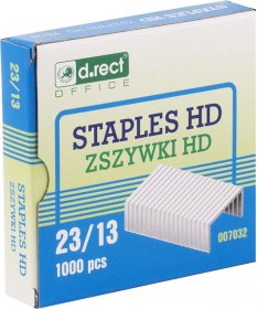 Zszywki D.Rect HD 23/13, 1000 sztuk, srebrny