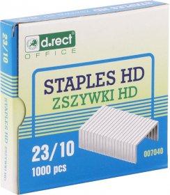 Zszywki D.Rect HD 23/10, 1000 sztuk, srebrny