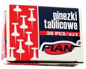 Pinezki kołeczki Fian, 36 sztuk, mix kolorów