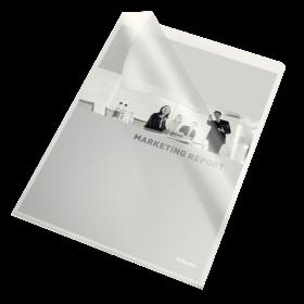 Ofertówki groszkowe Esselte, A4, 115µm, 10 sztuk, transparentny