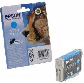 Tusz Epson T0712 (C13T071240), 5.5ml, cyan (błękitny)