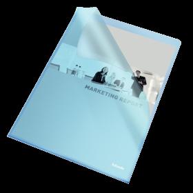 Ofertówki groszkowe Esselte, A4, 115µm, 25 sztuk, niebieski