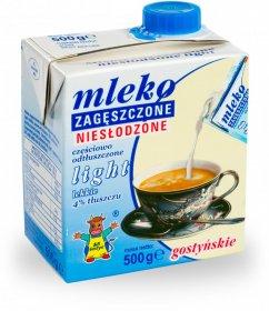 Mleko zagęszczone niesłodzone Gostyń, light, 4%, 500g