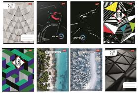 Zeszyt w linie Unipap, A5, 80 kartek, mix wzorów