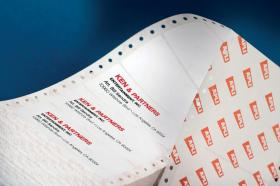 Etykiety do drukarek igłowych Apli, 1-kolumnowe, 88.9x36mm, 500 arkuszy, biały