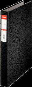 Segregator Esselte, A4, szerokość grzbietu 42mm, do 190 kartek, 2 ringi, czarny