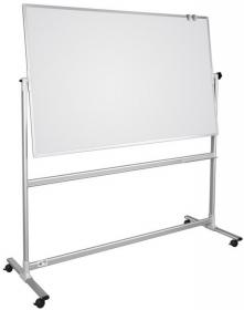 Tablica suchościeralno-magnetyczna 2x3, obrotowa, lakierowana, 120x90cm, biały